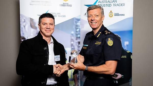 Fred Pizzicara with Australian Border Force